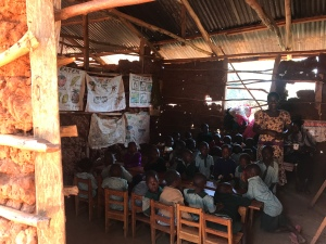 A rural school building for those who cannot afford a private school