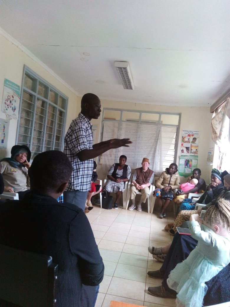 First meeting of PwAs in Webuye, Westkenya