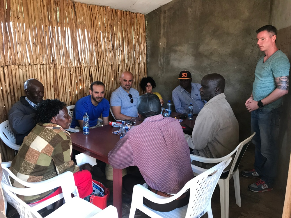 Training business skills to farmers in West Kenya